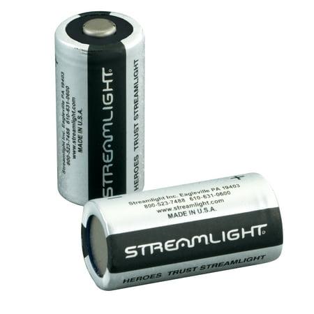 (Streamlight CR123A 3V Lithium Batteries, 2 pack)