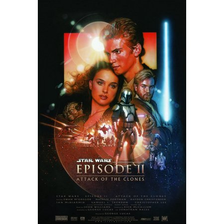 Clone Wars Movie Poster (Star Wars: Episode II - Attack Of The Clones - Movie Poster / Print (Regular Style) (Size: 27