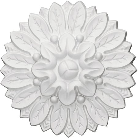 ROS06X06CH 6-Inch Od X 1 1/8-Inch P Chesterfield Rosette, Rosettes are perfect for furniture pieces and molding corners By Ekena Millwork ()