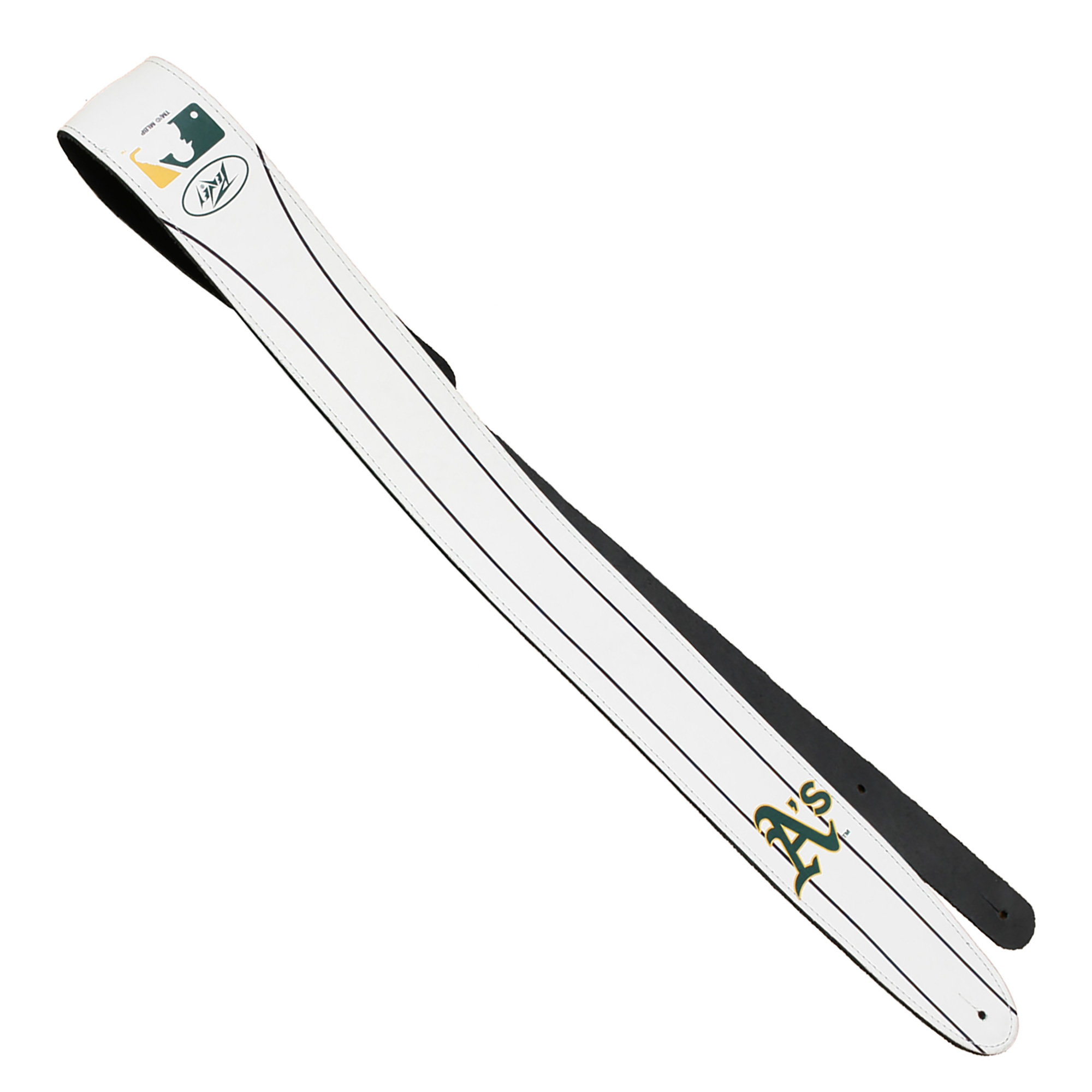 Oakland Athletics Peavey Leather Guitar Strap - White - No Size