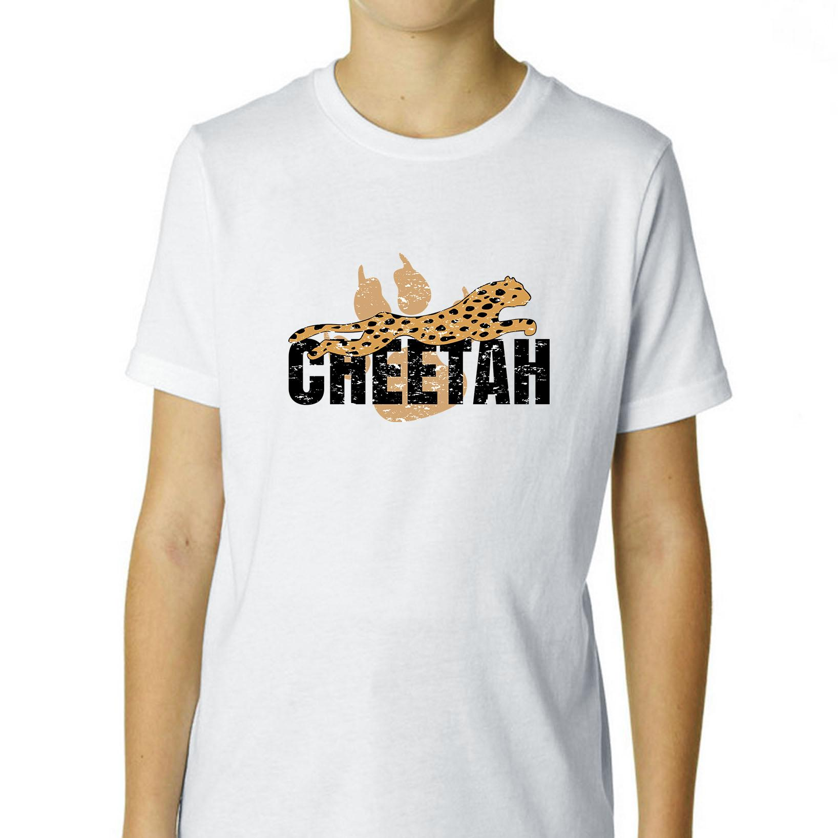 Fast Like A Cheetah Youth T Shirt