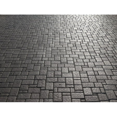 Canvas Print Pattern Stones Flooring Road Patch Paving Stone Stretched Canvas 32 x