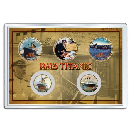 RMS TITANIC 100th Anniversary Legal Tender 24K Gold Plated US  5-Coin Set - 100th Anniversary Plate