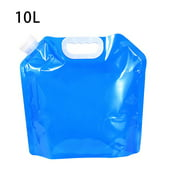 Water Bag Folding Portable Sports Jug Storage Bottle Container for Outdoor Travel Camping, 10L