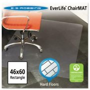 ES Robbins 46x60 Rectangle Chair Mat, Multi-Task Series for Hard Floors