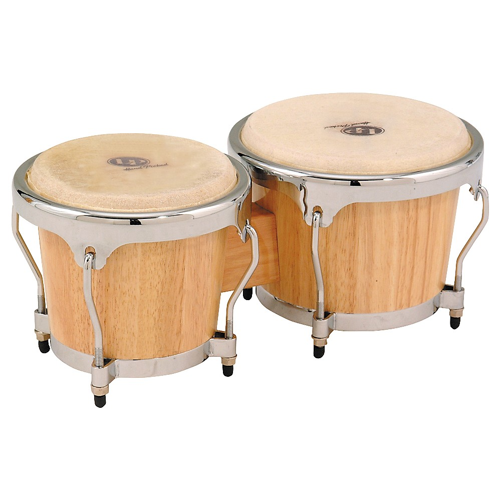LP Classic II Bongos with Chrome Hardware Natural by LP