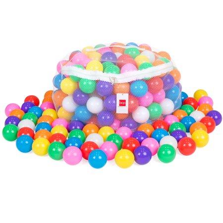 Best Choice Products Pack of 200 Kids BPA-Free Soft Plastic Pit Balls w/ 8 Colors, Zipper Mesh Storage Bag - Multicolor - Wholesale Ball Pit Balls