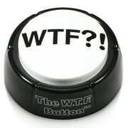 """The WTF Button - Wonderful """"WTF?!"""" Adult Audio Insanity, Right on Your Desk! Gag Gift Novelty Talking Toy"""