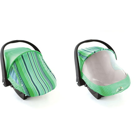 - Cozy Cover Sun and Bug Cover, Green Stripe