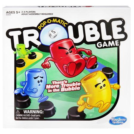 Trouble Board Game for Kids Ages 5 & Up, 2-4 (Candyland The Kingdom Of Sweets Board Game)