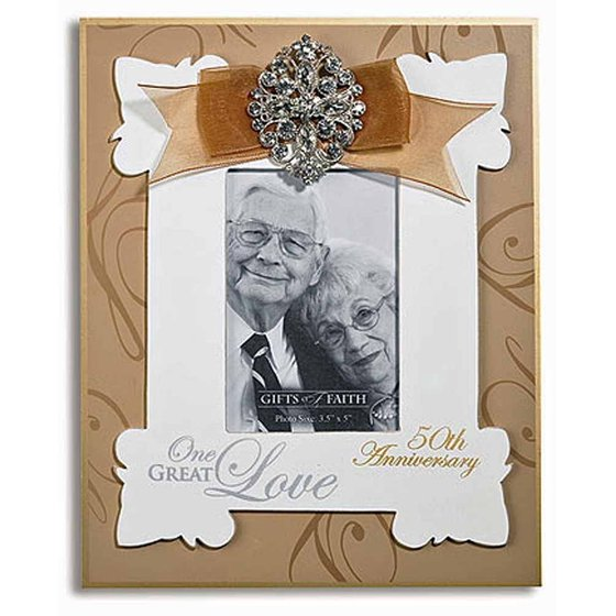 50th Wedding Anniversary Frame Photo One Great Love By Gifts Of Faith
