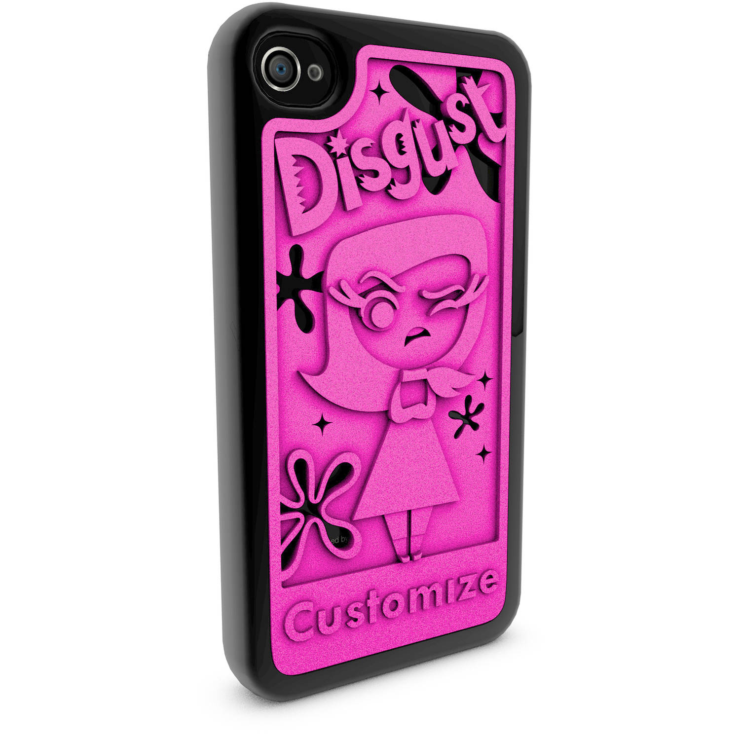 Apple iPhone 4 and 4S 3D Printed Custom Phone Case - Disney/Pixar Inside Out - Disgust