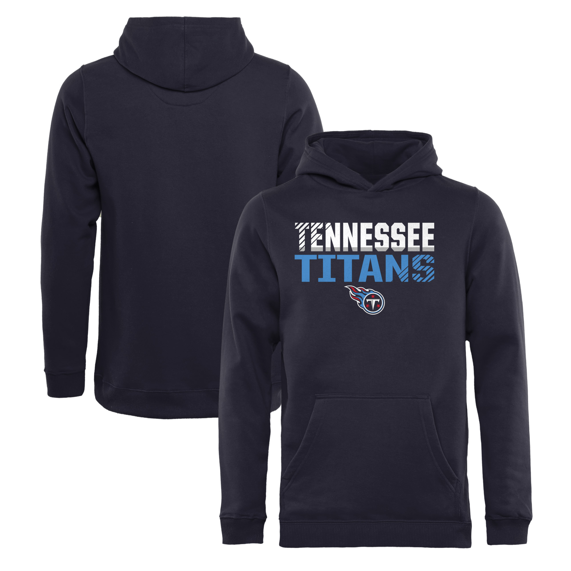 Tennessee Titans NFL Pro Line by Fanatics Branded Youth Iconic Collection Fade Out Pullover Hoodie - Navy