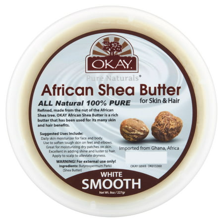 Eo Natural Shea Butter (Okay Pure Naturals White Smooth African Shea Butter, 8 oz )