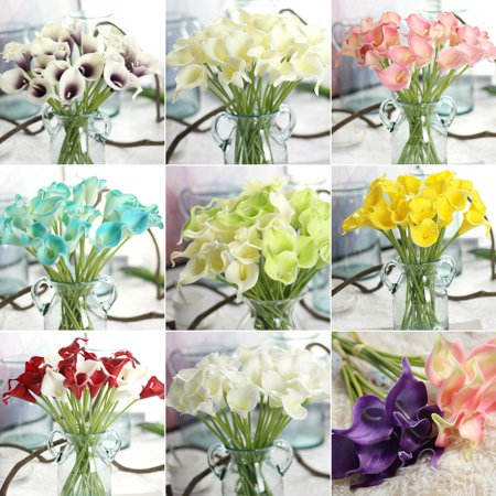 Classic White Lily - Girl12Queen 1Pc Artificial Calla Lily Flower Bridal Bouquet Wedding Home Romantic Decor