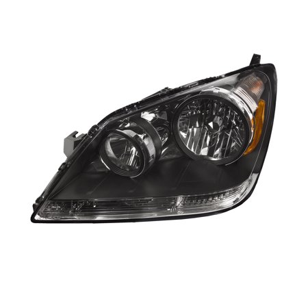 New Left Headlight Lamp - 2005-2007 Honda Odyssey Halogen Driver Headlight New Headlamp Driver Side Left Assembly HO2518108