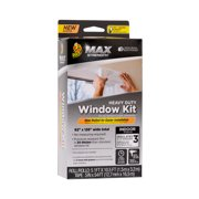 Duck Tape Brand Max Strength Rolled Window Insulation Kit- 3 pack, Clear, 62 in. x 126 in.