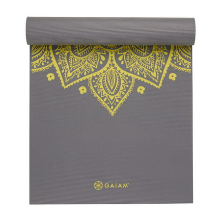 Gaiam Premium Print Yoga Mat Citron Sundial 6mm