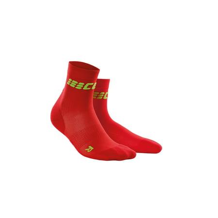 Ultralight Womens Socks - Women's Ultralight Short Socks, Red/Green, II