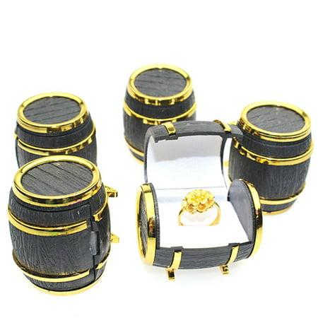 Beer Storage - HiCoup Retro Beer Barrel Jewelry Box Bracelet Necklace Storage Organizer Holder Case