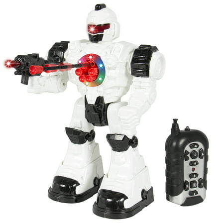 Best Choice Products RC Walking and Shooting Robot Toy w/ Lights and Sound Effects - (Best Remote Control Robot For 5 Year Old)
