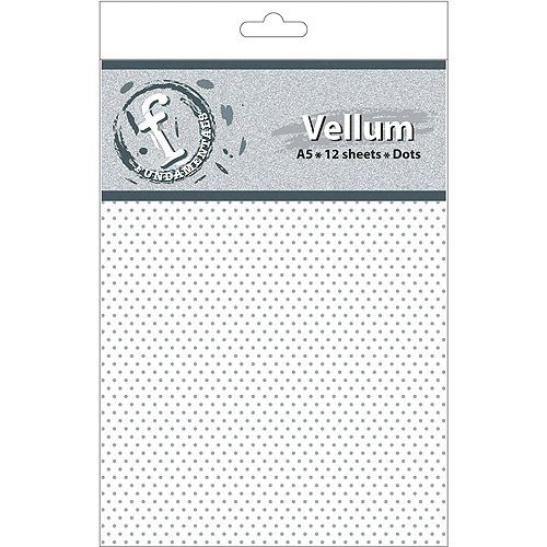 Fundamentals A5 Vellum Sheets, 12pk, Dots