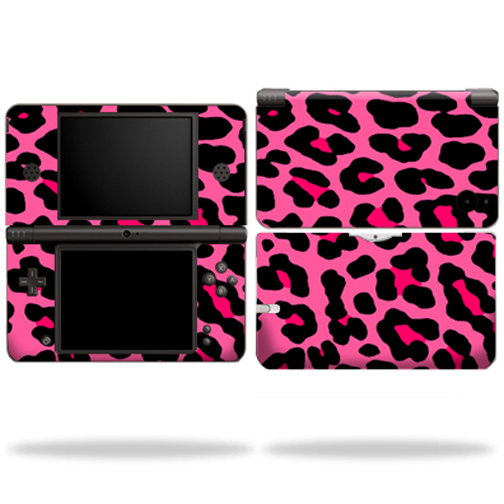 Mightyskins Protective Vinyl Skin Decal Cover for Nintendo DSi XL wrap sticker skins Pink Leopard
