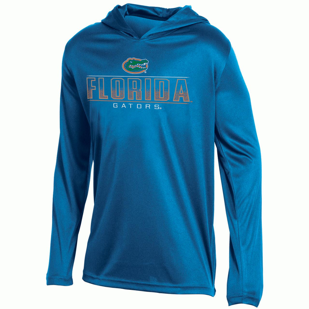 Youth Russell Royal Florida Gators V-Neck Pullover Hoodie