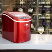 Portable Electric Automatic Countertop Ice Cube Maker Machine 26lbs/day Red