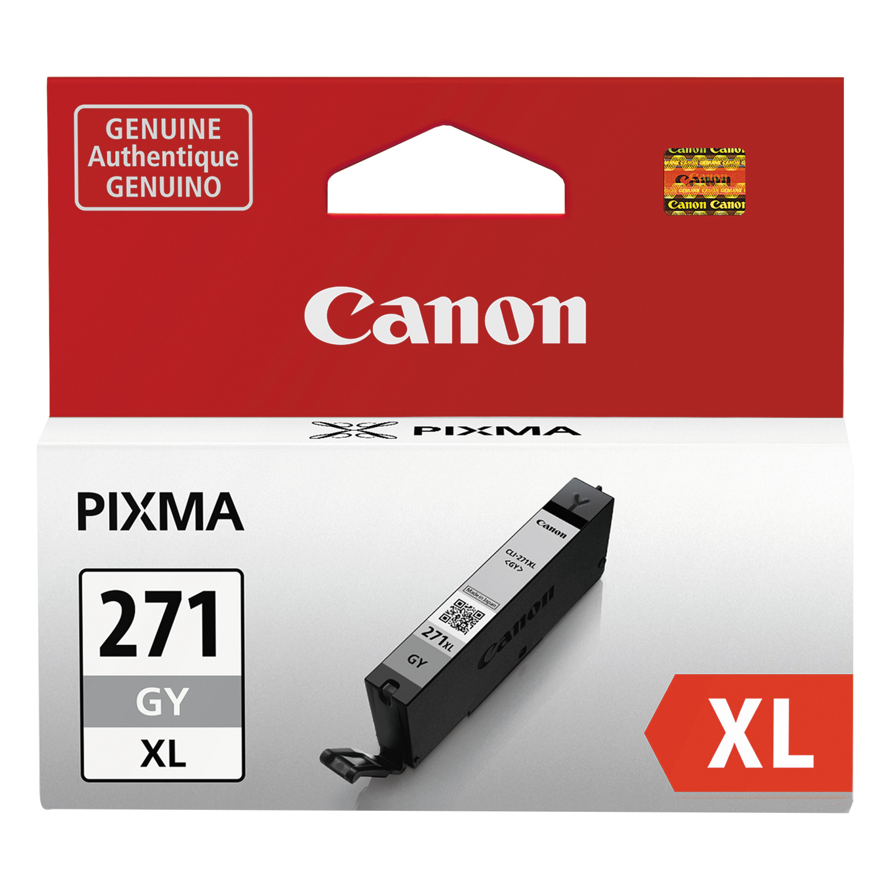 Canon 0340C001 (CLI-271XL) High-Yield Ink, Gray