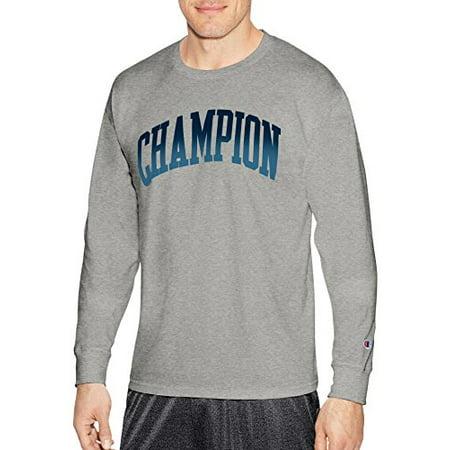df0d2f8a Champion Men's Athletic - Champion Men's Classic Jersey Long Sleeve Graphic  T-Shirt, Light, Large - Walmart.com