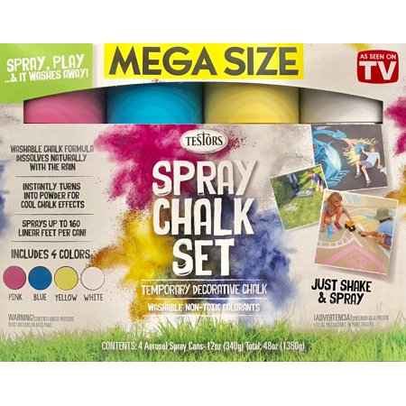 Rustoleum 3pk Spray Chalk 4 Color Kit