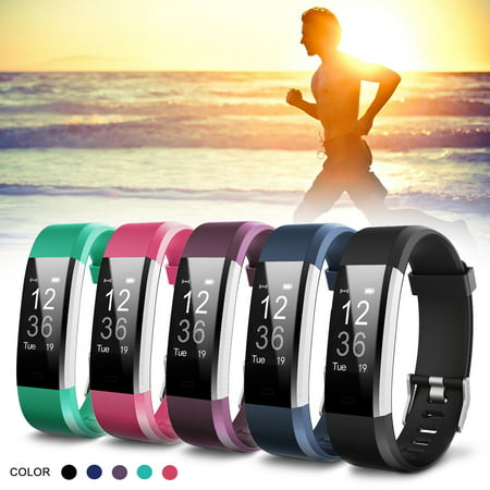 bluetooth Smart Watch - ID115 Plus - Touch Screen Waterproof Sleep Fitness Sport Monitor for IOS Android phones✔Activity Tracking Alarm✔Call SMS SNS✔Alert✔Distance (Sms And Call Blocker App For Android)
