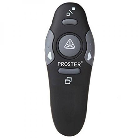 Proster Wireless Presenter 2 4Ghz Wireless Usb Powerpoint Ppt Presenter Remote Control With Red Pointer For Teaching Presentations Speech School Assemblies And Etc