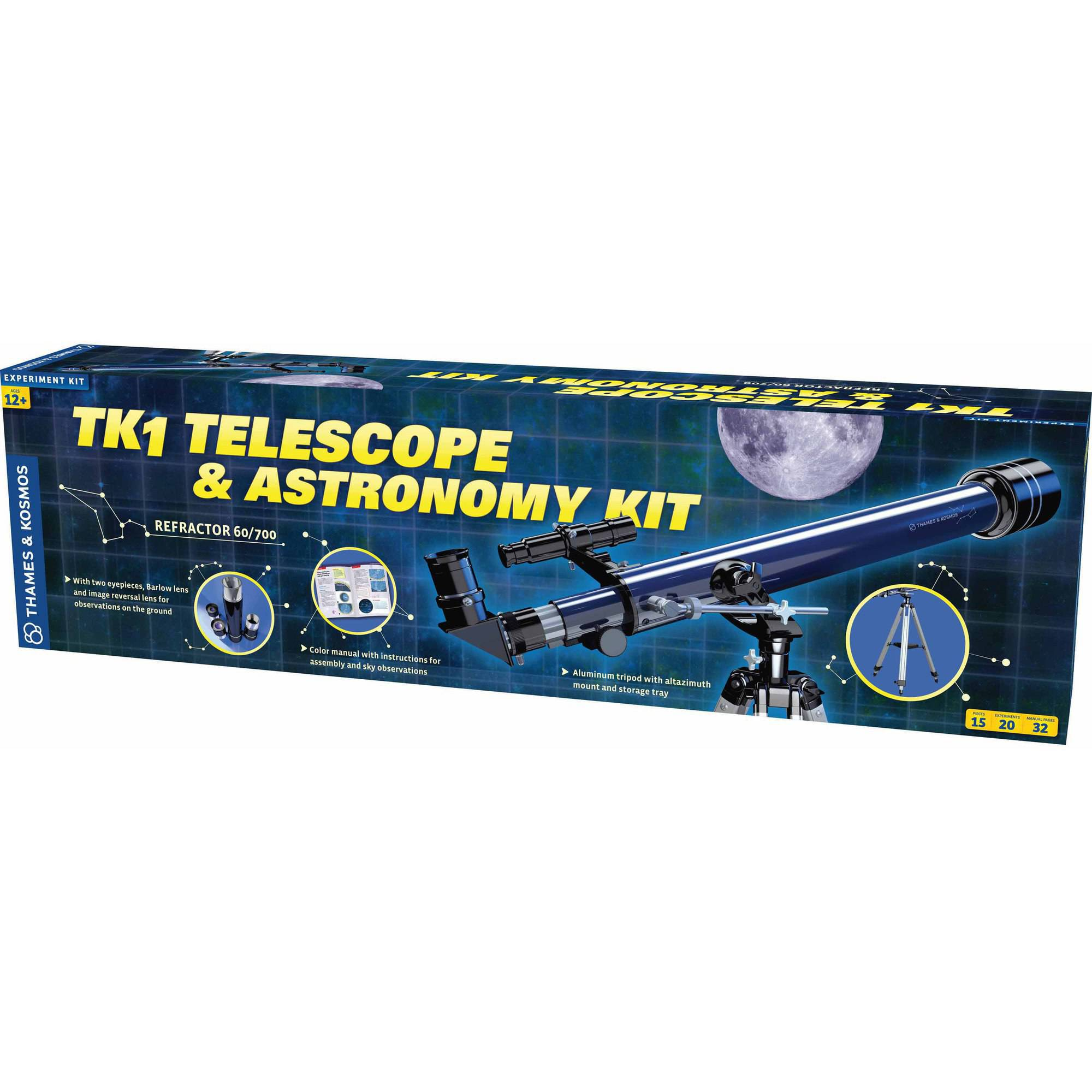 Thames and Kosmos TK1 Telescope and Astronomy Kit Science Experiment Kit by Thames & Kosmos