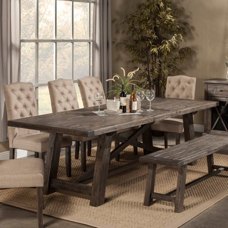 Linen Extension Dining Table - Alpine Newberry Extension Dining Table