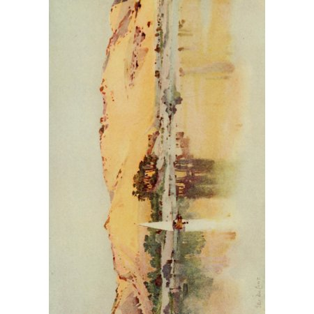 The Banks Of The Nile 1913 Sand Slopes On The West Bank Of The Cataract Poster Print By  Ella Du Cane