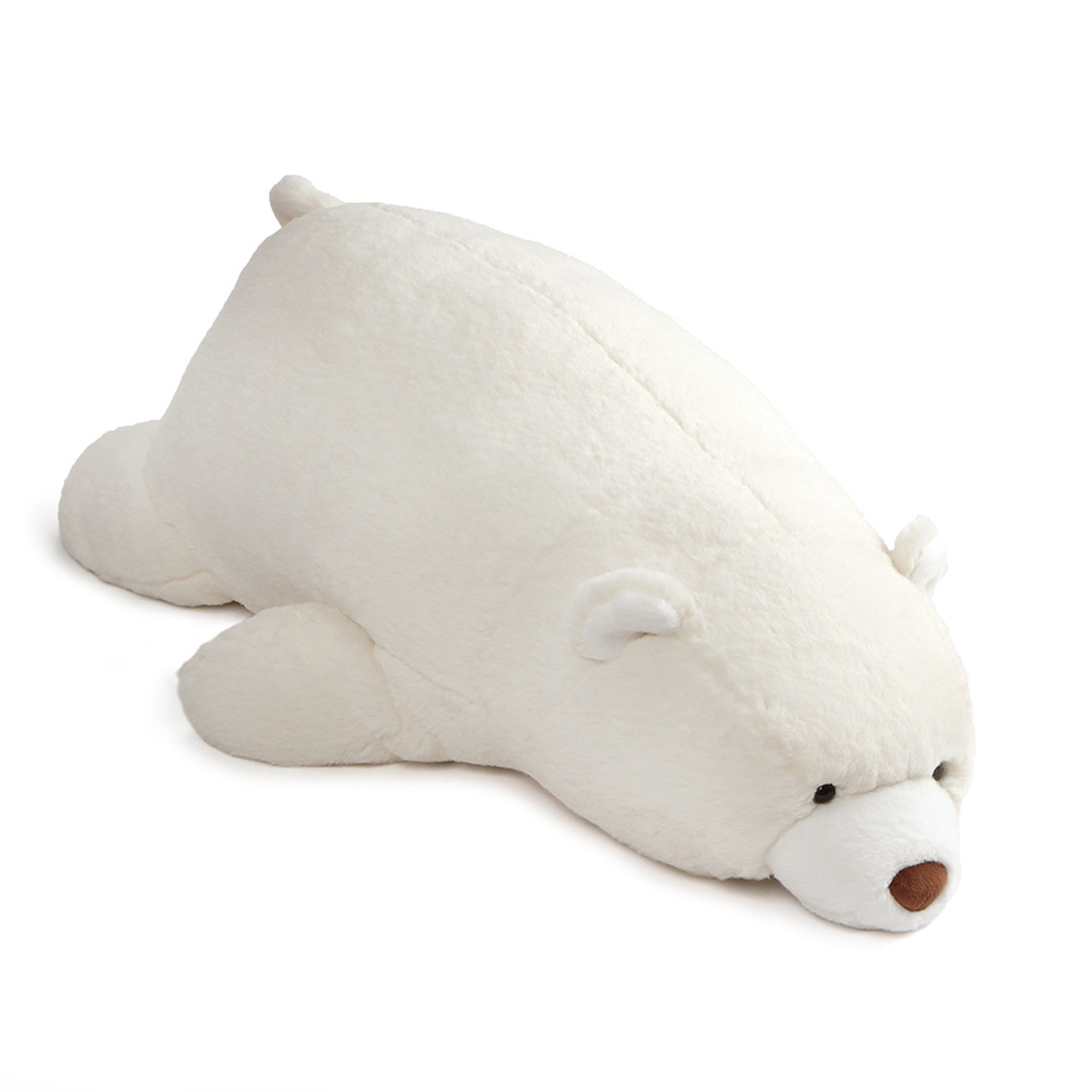 Click here to buy Gund Large Laying Down Snuffles Teddy Bear Plush Stuffed Animal 27 Toy, White by Gund.