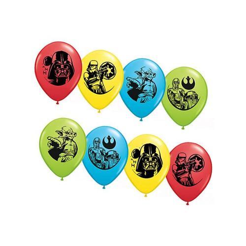 "Star Wars Asst. 12"" Latex Balloons (6 Pack) - Party Supplies"