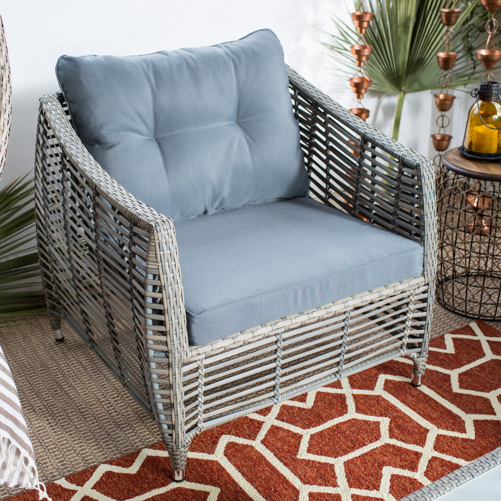 Belham Living Kambree All-Weather Wicker Deep Seating Chair with Cushion