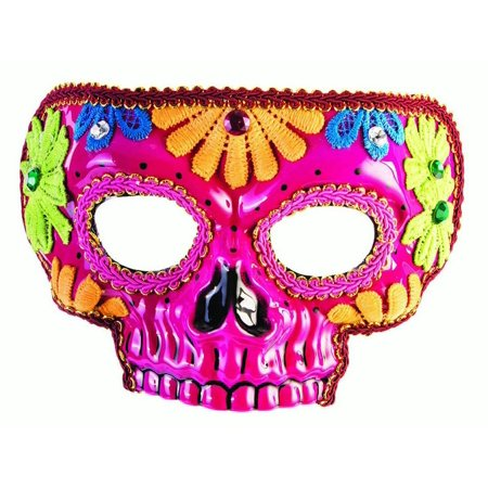 Day Of The Dead Difference Between Halloween (Day Of The Dead Pink Mask Halloween Costume)