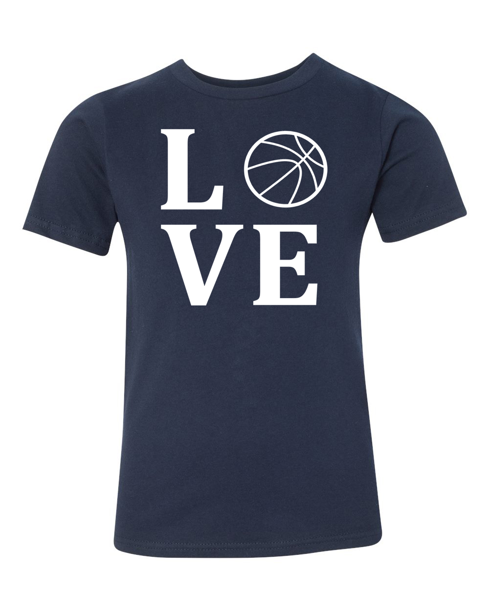 Love Basketball Sports Jersey Youth Short Sleeve T-Shirt