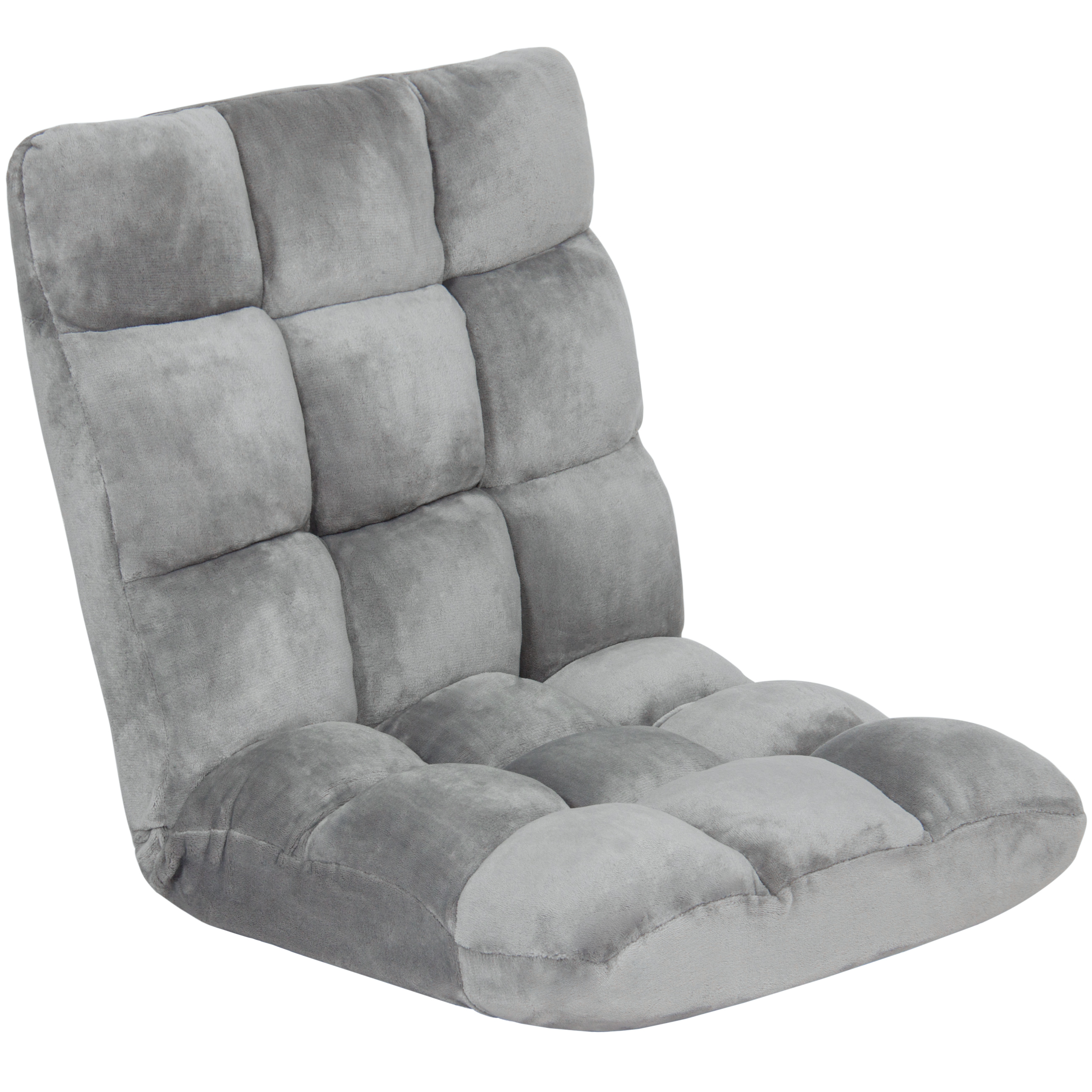 Best Choice Products 14-Position Memory Foam Cushioned Floor Gaming Chair - Gray