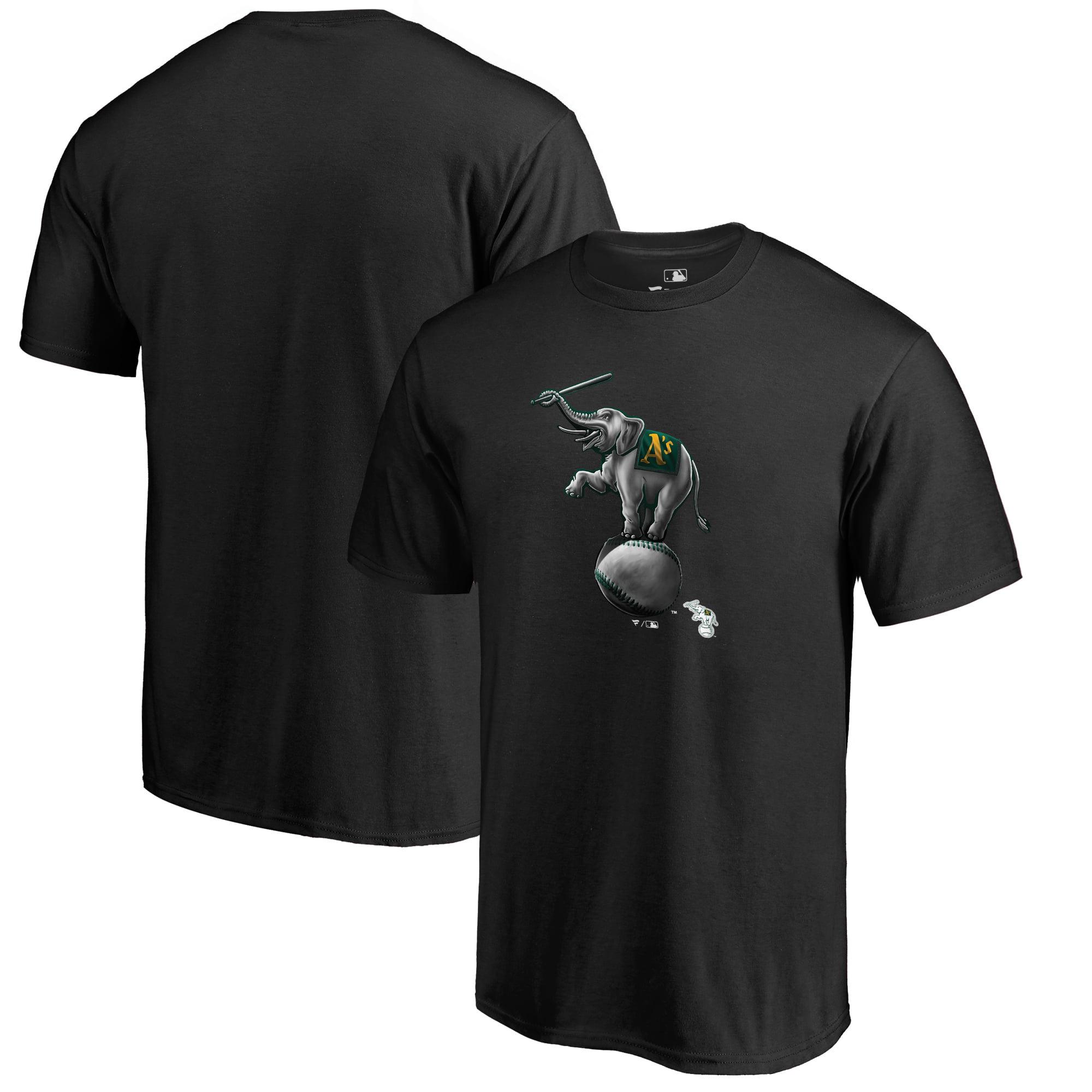 Oakland Athletics Fanatics Branded Midnight Mascot T-Shirt - Black