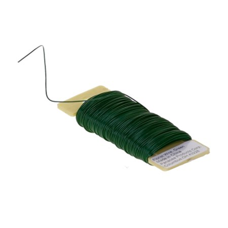 26 Gauge Green Floral Paddle Flower Wreath Wire, 110 feet