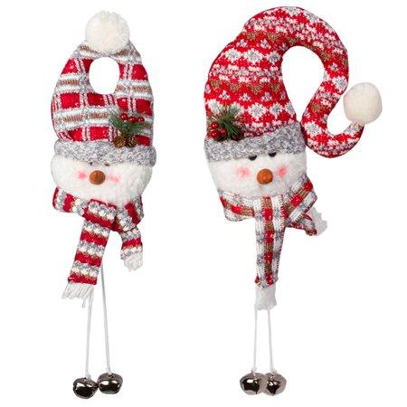 2 Pack Christmas Door Hanging Snowman Decoration With 2 - Snowman Classroom Door