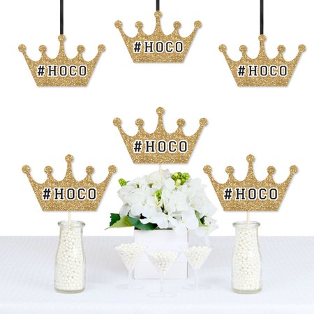 HOCO Dance - Crown Decorations DIY Homecoming Essentials - Set of 20 - Big Tiaras And Crowns