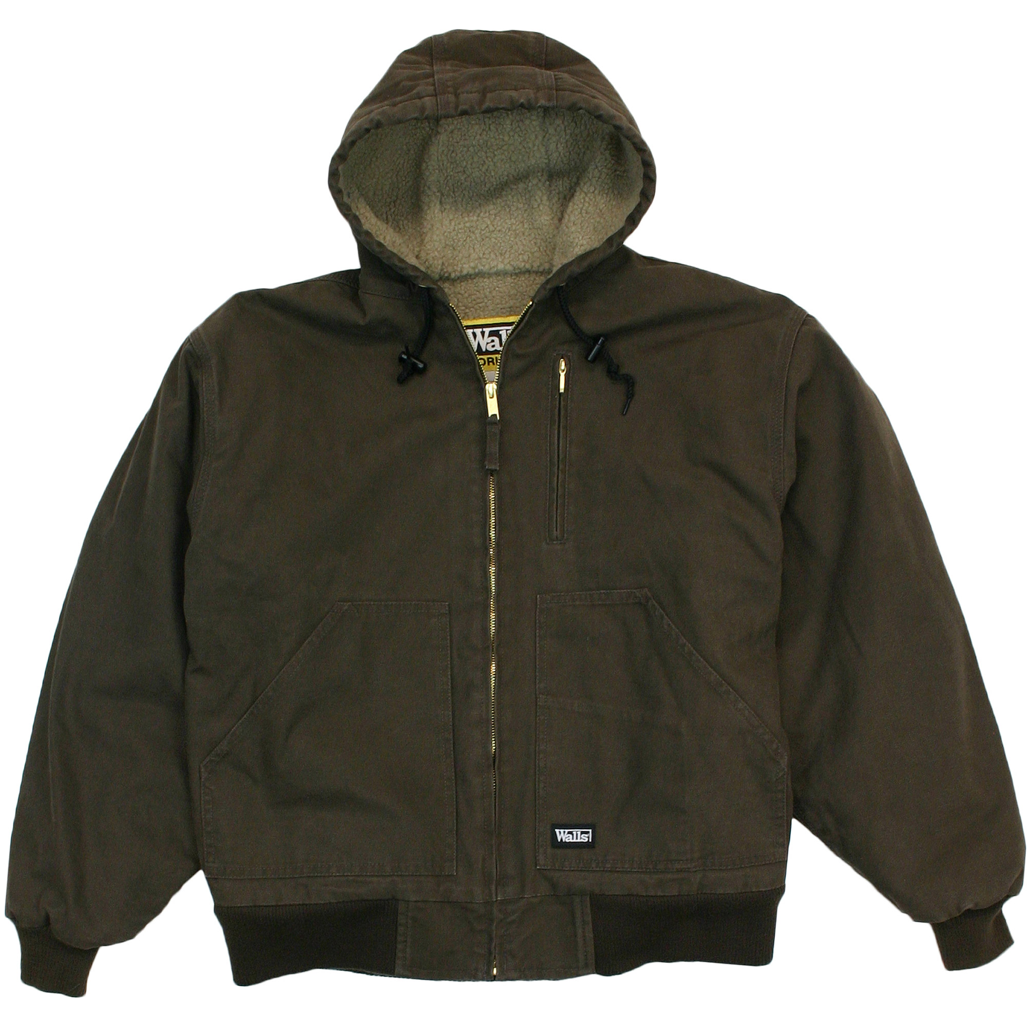 Walls Big Men's Washed Duck Sherpa Lined Hooded Jacket