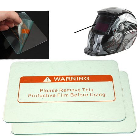 Clear Weld Welding Cover Lens Plastic Lenses Helmet Hood Protective 4.5