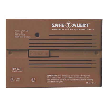 MTI Industries 40-442-P-BR Safe T Alert 40 Series Professional Propane/LP Gas Alarm - Flush Mount, Brown